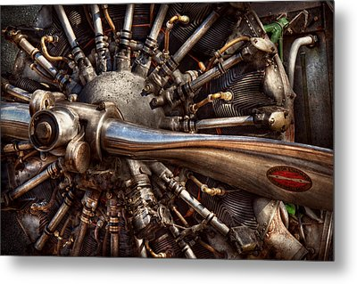 Pilot - Plane - Engines At The Ready  Metal Print by Mike Savad