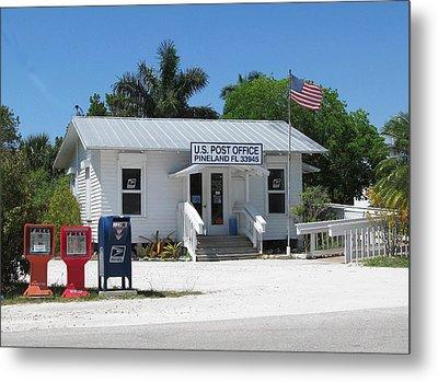 Pine Island Post Office Metal Print by Melinda Saminski
