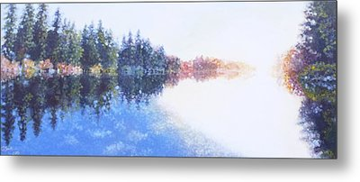 Pine Lake Reflection Metal Print by Charles Smith
