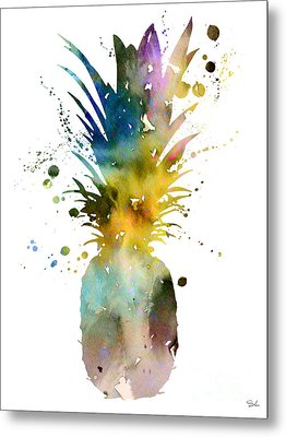 Pineapple 2 Metal Print by Luke and Slavi