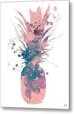 Pineapple 3 Metal Print by Luke and Slavi