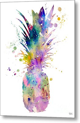 Pineapple Metal Print by Luke and Slavi