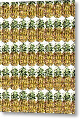 Pineapple Parade Metal Print by John Keaton