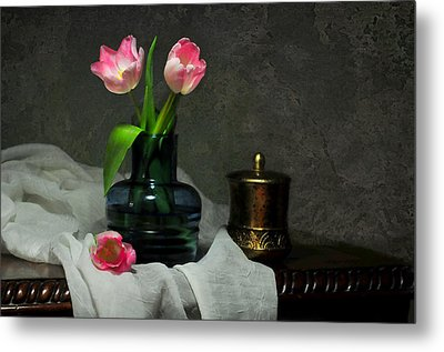 Pink And Blue Metal Print by Diana Angstadt