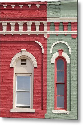Pink And Green Metal Print by Mary Bedy