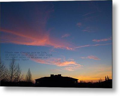Pink Clouds Metal Print by Rima Biswas