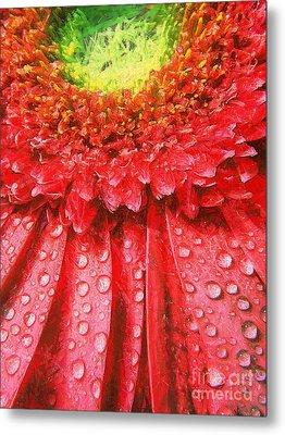 Pink Gerbera Flower Metal Print by Odon Czintos