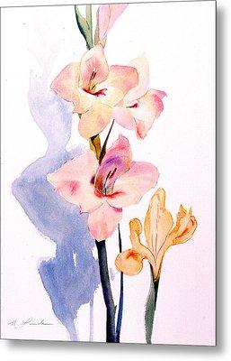 Pink Gladiolas Metal Print by Mark Lunde
