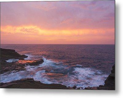 Pink Oahu Sunrise - Hawaii Metal Print by Brian Harig