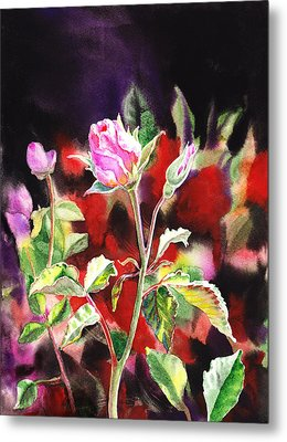 Pink Rose Bloom Metal Print by Irina Sztukowski