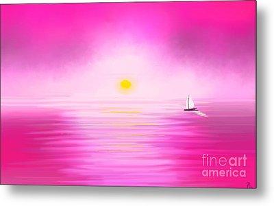 Pink Sunset Metal Print by Anita Lewis