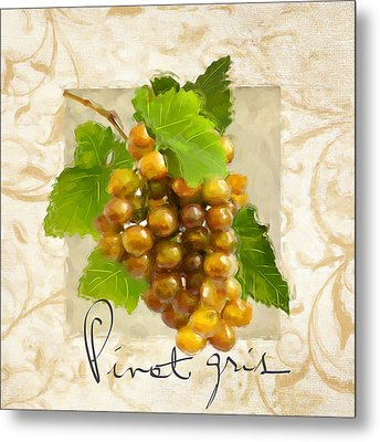 Pinot Gris Metal Print by Lourry Legarde