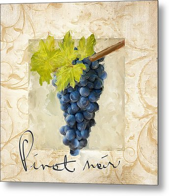 Pinot Noir Metal Print by Lourry Legarde