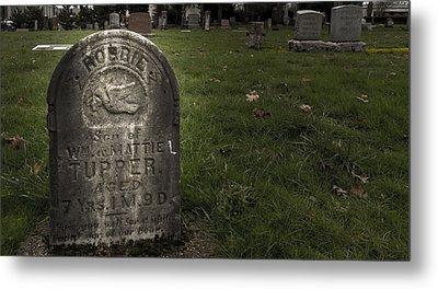 Pioneer Grave Metal Print by Jean Noren
