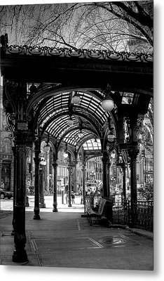 Pioneer Square Pergola Metal Print by David Patterson
