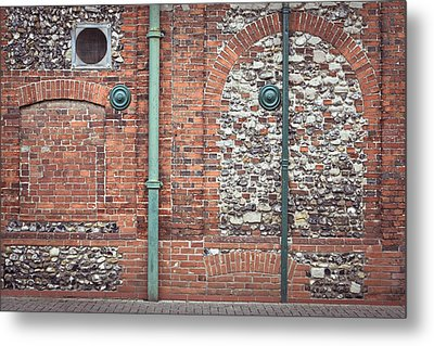 Pipes And Wall Metal Print by Tom Gowanlock
