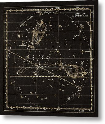 Pisces Constellation, 1829 Metal Print by Science Photo Library