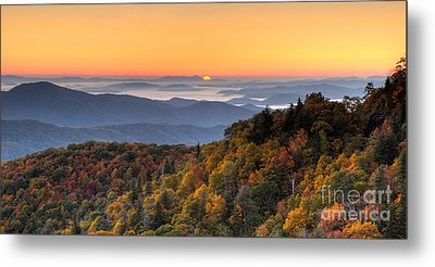 Pisgah Sunrise - Blue Ridge Parkway Metal Print by Dan Carmichael