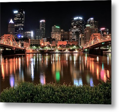 Pittsburgh Across The Allegheny Metal Print by Frozen in Time Fine Art Photography