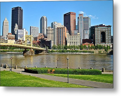 Pittsburgh From The Park Metal Print by Frozen in Time Fine Art Photography