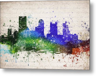 Pittsburgh In Color Metal Print by Aged Pixel