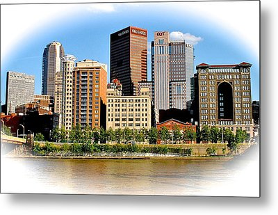 Pittsburgh In The Spotlight Metal Print by Frozen in Time Fine Art Photography