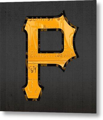 Pittsburgh Pirates Baseball Vintage Logo License Plate Art Metal Print by Design Turnpike