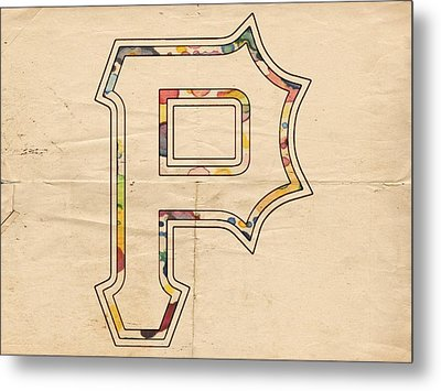 Pittsburgh Pirates Logo Art Metal Print by Florian Rodarte