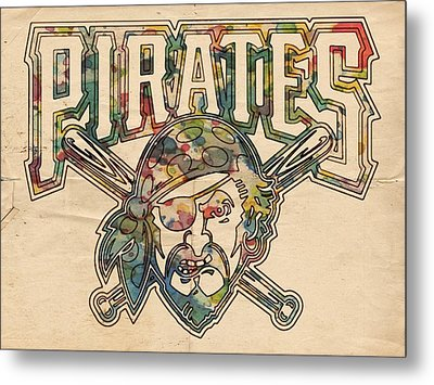 Pittsburgh Pirates Poster Vintage Metal Print by Florian Rodarte
