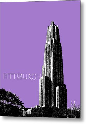Pittsburgh Skyline Cathedral Of Learning - Violet Metal Print by DB Artist
