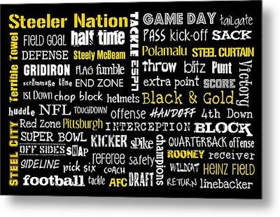Pittsburgh Steelers Metal Print by Jaime Friedman