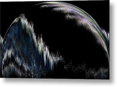 Pixilated Planet Metal Print by Patricia Kay