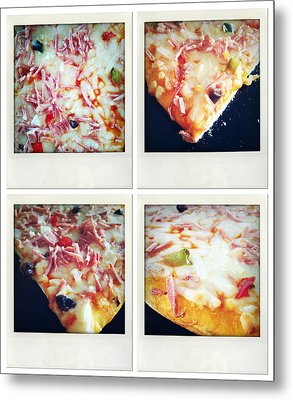 Pizza Metal Print by Les Cunliffe