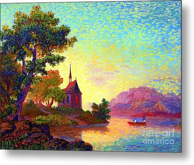 Beautiful Church, Place Of Welcome Metal Print by Jane Small