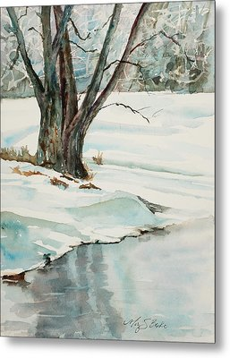 Placid Winter Morning Metal Print by Mary Benke