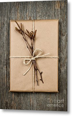 Plain Gift With Natural Decorations Metal Print by Elena Elisseeva