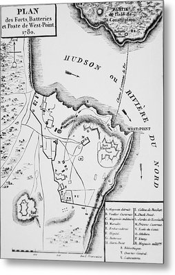 Plan Of West Point Metal Print by French School