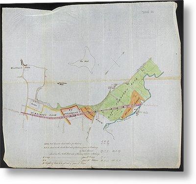 Plan Of Wimbledon Metal Print by British Library
