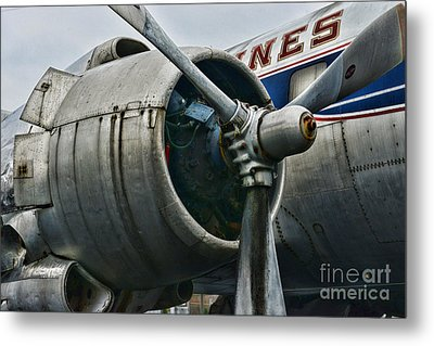 Plane Check Your Engine Metal Print by Paul Ward