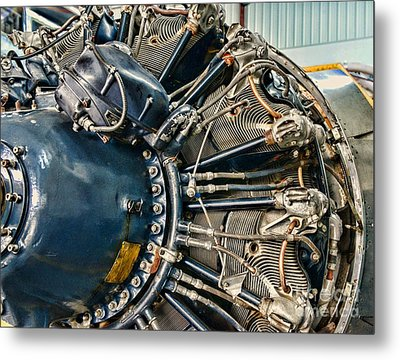 Plane Engine Close Up Metal Print by Paul Ward