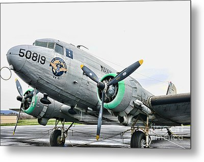 Plane Naval Air Transport Service Metal Print by Paul Ward