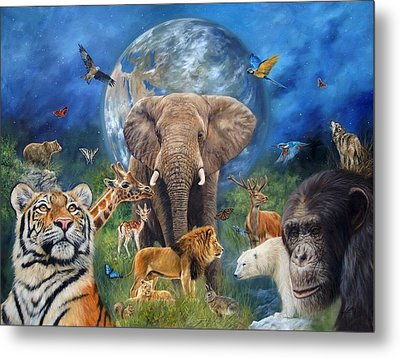 Planet Earth Metal Print by David Stribbling
