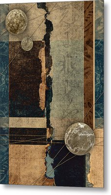 Planetary Shift #1 Metal Print by Carol Leigh