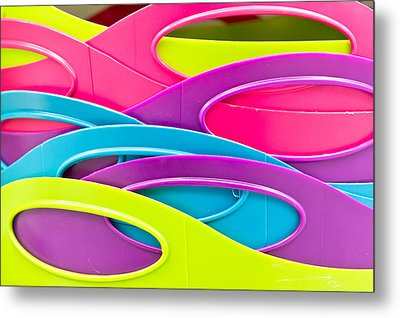 Plastic Tubs Metal Print by Tom Gowanlock