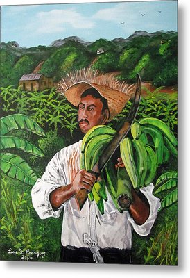 Platano Man Metal Print by Luis F Rodriguez