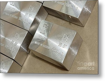 Platinum Bar Metal Print by RIA Novosti