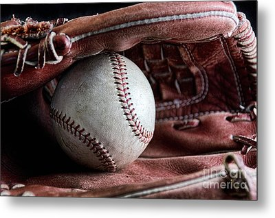 Play Ball Metal Print by Peggy Hughes