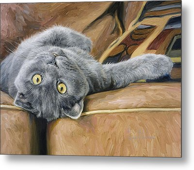 Playful Metal Print by Lucie Bilodeau