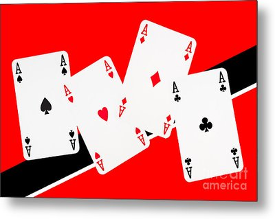 Playing Cards Aces Metal Print by Natalie Kinnear