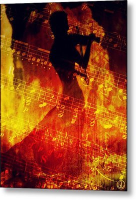Playing Just For You Metal Print by Gun Legler